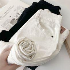 Nassyi - 直筒水洗牛仔褲