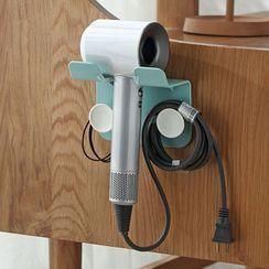 Mikamae - Plastic Hair Dryer Adhesive Wall Organizer