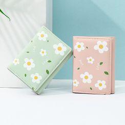 tablarosa - Flower Print Faux Leather Wallet