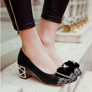 Freesia - 粗跟蝴蝶結鞋