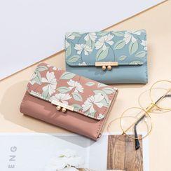 Volva - Floral Print Long Wallet