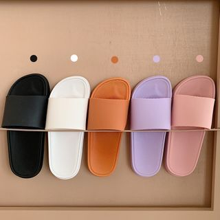 Honkizz - 情侶款純色家居拖鞋