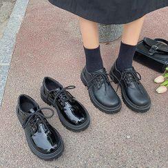 Bolitin - 仿皮厚底繫帶鞋