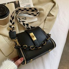Studio Sophista - Wide Strap Chain Crossbody Bag