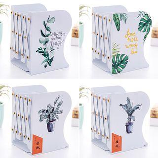 Fun House - 植物印花可伸缩金属书立
