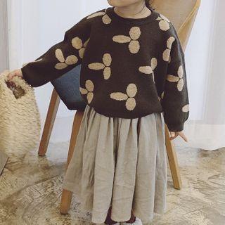 Pluie - Kids Set: Printed Sweater + Maxi Skirt