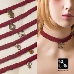 AOI - 合金吊坠贴脖项链 (多款设计)