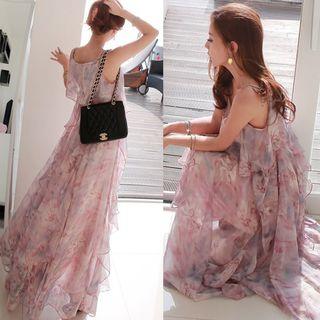 BOHEME - Floral Strappy Maxi Sun Dress