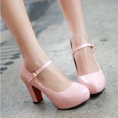 Freesia - 纯色玛莉珍鞋