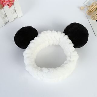 MOROE - Chenille Panda Ear Face Wash Headband