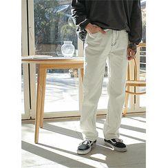 PLAYS - Stitched Wide-Leg Chino Pants
