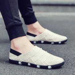 TATALON - Contrast Trim Canvas Slip-On Shoes