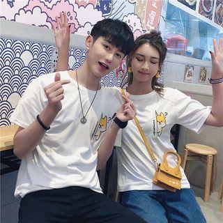 Ukiyo - Couple Matching Short-Sleeve Embroidered T-Shirt