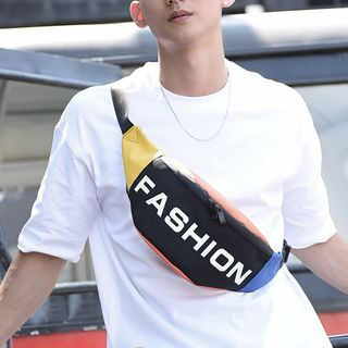 SUNMAN - Lettering Canvas Fanny Pack