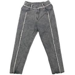 Banash - Washed Fringed Straight-Cut Jeans