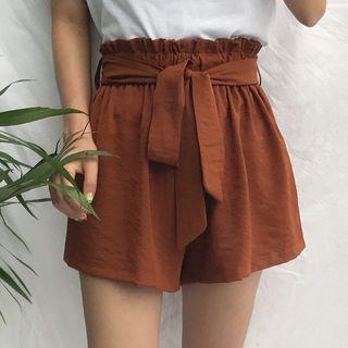 Sitron - Paperbag-Waist Shorts