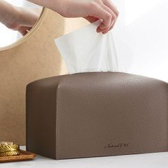 iswas - Colored Faux-Leather Tissue Cover