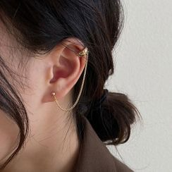 True Glam - Alloy Chained Cuff Earring