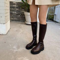 LIPHOP - Round-Toe Long Platform Boots