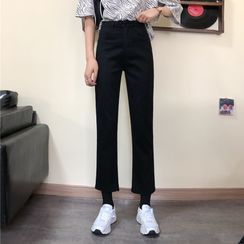 Sisyphi - High-Waist Cropped Jeans