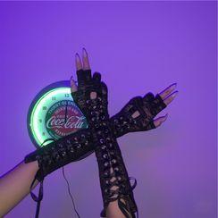 Porstina - Manga del brazo de encaje con cordones