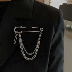 Malnia Home - Safety Pin Chained Brooch