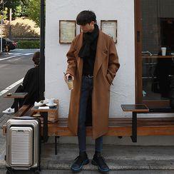 匡億 - 純色單排扣大衣
