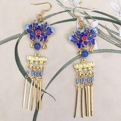 Paparazzi - Retro Beaded Tassels Earrings