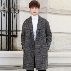 Andrei - Double Breasted Plaid Coat