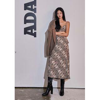 chuu - [ADAN] Python Maxi Bustier Dress