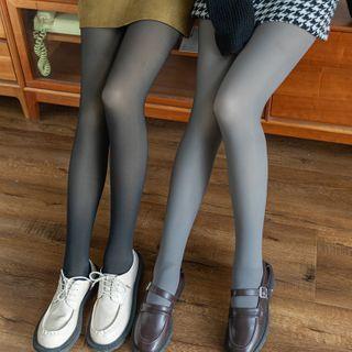Nikkocampus - 纯色塑身贴身裤/纯色抓毛内衬塑身贴身裤