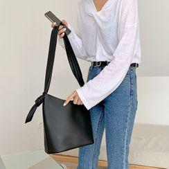 MERONGSHOP - Knot-Trim Strap Shoulder Bag