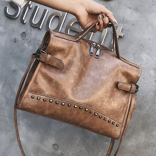 Nautilus Bags(ノーチラスバッグス) - Studded Faux Leather Satchel