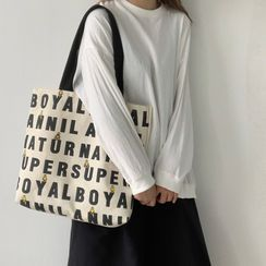 Basaran - Lettering Canvas Tote Bag