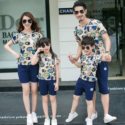 Hinode - Family Matching Set: Printed Short Sleeve T-Shirt + Shorts