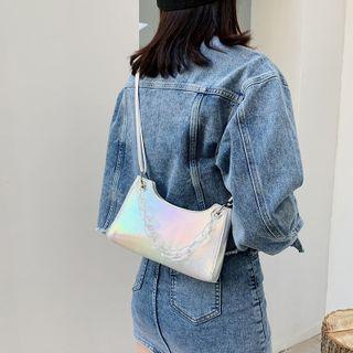 Auree - Acrylic Chain Metallic Crossbody Bag