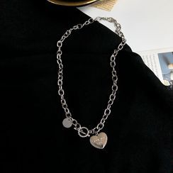 Isle of Green - Heart Charm Chain Necklace