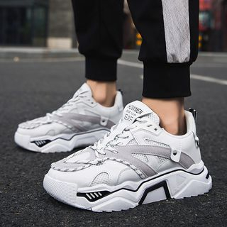 MARTUCCI - Mesh Panel Platform Sneakers
