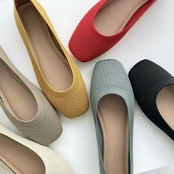 Wifky - Square-Toe Knit Flats