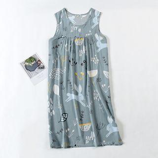 Dogini - Printed Sleeveless Sleep Dress