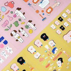 Full House - Cartoon Sticker (various designs)