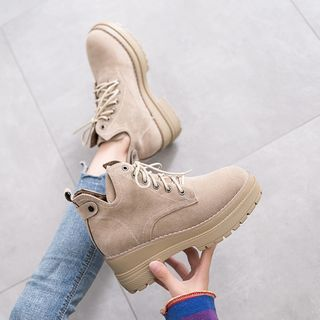 Novice - Lace-Up Platform Short Boots