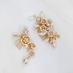 Vivian Design - Floral Headpiece / Earring