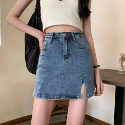 Baseris - Washed Denim Skort