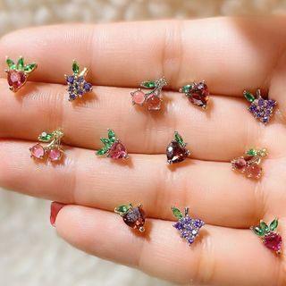 Mulyork - Rhinestone Fruit Earring