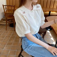 Cherryville - Floral Embroidered Blouse