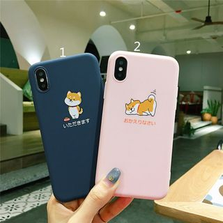 Phone in the Shell - Dog Print Mobile Case - iPhone 6s / 6s Plus / 7 / 7 Plus / 8 / 8 Plus / X / XS / XR / XS Max