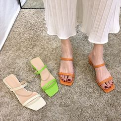 Frivole - 多带粗跟凉鞋