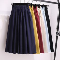 Gray House - Midi A-Line Skirt