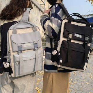 Gokk(ゴック) - Two-Tone Multi-Section Backpack
